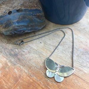Vintage Avon Gold & Silver Tone Butterfly Pendant